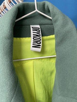 Drykorn for beautiful people Wollen jas cadet blauw-neon groen