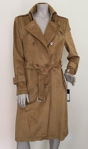 Drykorn Mantel Trenchcoat WENTLEY camel Veloursoptik Gr. 5 (42) NEU/ UNGETRAGEN