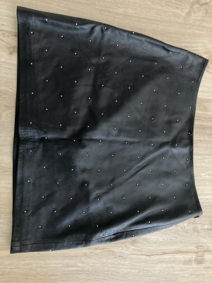 Drykorn Skórzana spódnica czarny