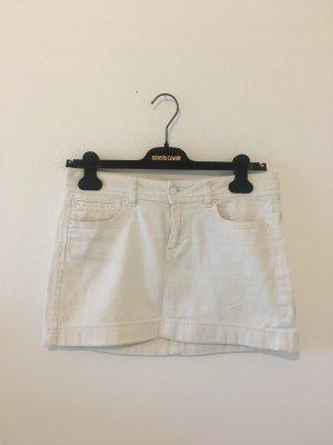 Drykorn Mini Rock Denim  27 Jeans weiß Sommer Stretch elastisch