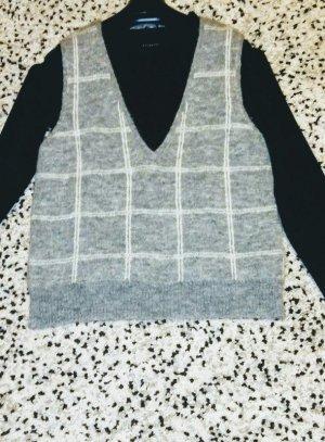 Drykorn Cárdigan de punto fino blanco-gris claro lana de alpaca