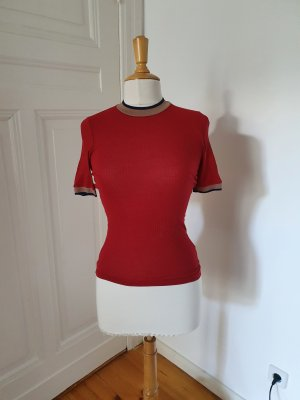 Drykorn Ripp T-Shirt S rot