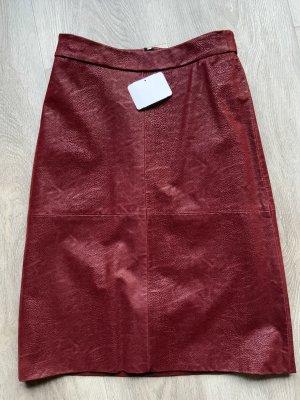 Drykorn Spódnica midi głęboka czerwień-bordo