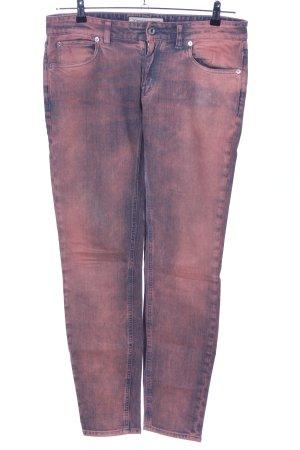 Drykorn Röhrenjeans blau-pink Farbverlauf Casual-Look