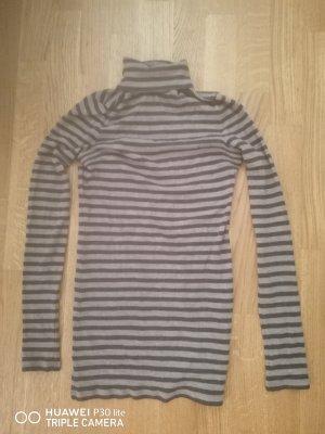 Drykorn Sweter z golfem jasnoszary-ciemnoszary
