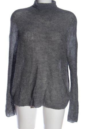 Drykorn Maglione dolcevita grigio chiaro puntinato stile casual