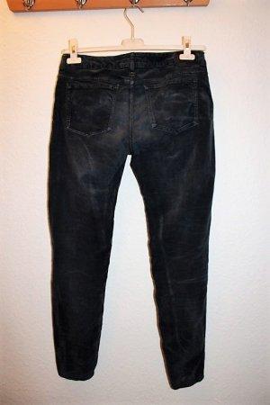 Drykorn Samtcordhose, Boot Cut, dunkelblau, Gr. 31/34