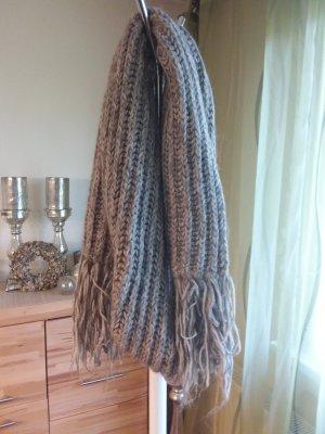 Drykorn Wollen sjaal wolwit-lichtgrijs