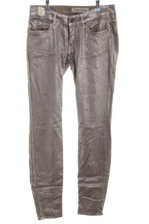 Drykorn Skinny Jeans silberfarben Glanz-Optik