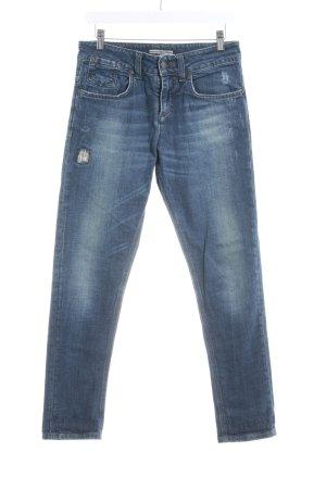 Drykorn Skinny Jeans dunkelblau Used-Optik