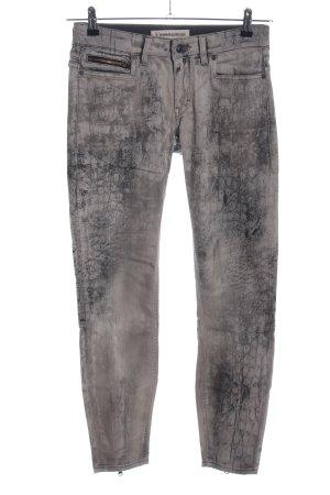 Drykorn Slim Jeans hellgrau-schwarz Farbverlauf Casual-Look