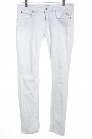 Drykorn Slim Jeans weiß Street-Fashion-Look