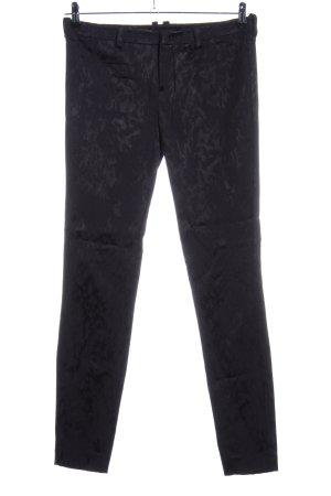 Drykorn Stoffhose schwarz abstraktes Muster Casual-Look
