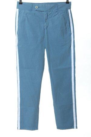 Drykorn Stoffhose blau-weiß Streifenmuster Casual-Look