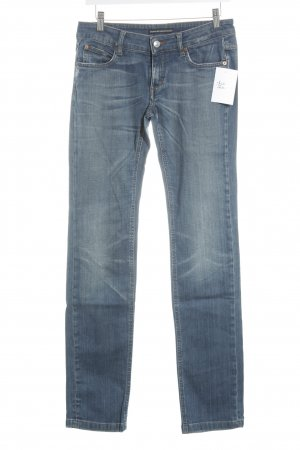 Drykorn Straight-Leg Jeans blau klassischer Stil