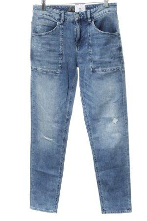Drykorn Jeansy z prostymi nogawkami chabrowy Metalowe elementy