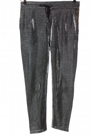 Drykorn Stretch Trousers silver-colored wet-look