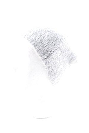 Drykorn Strickmütze hellgrau Kuschel-Optik