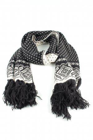 Drykorn Knitted Scarf black-white allover print casual look
