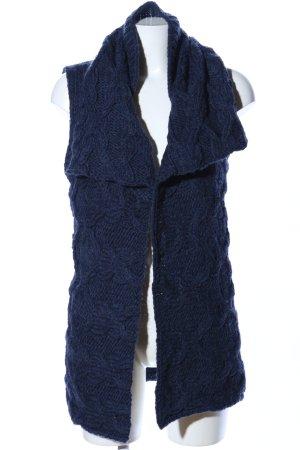 Drykorn Strickweste blau Zopfmuster Casual-Look
