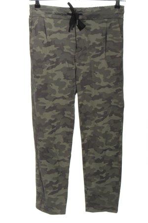 Drykorn Sweat Pants khaki allover print casual look