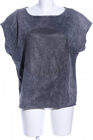 Drykorn T-Shirt hellgrau meliert Casual-Look