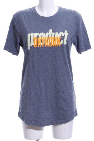 Drykorn T-Shirt graublau Schriftzug gedruckt Casual-Look