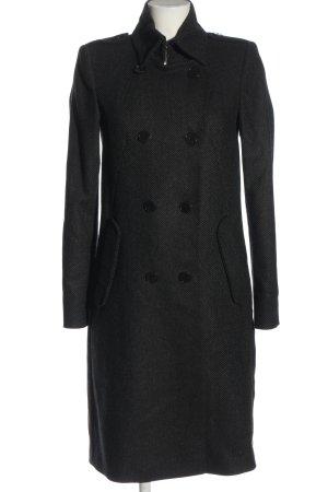 Drykorn Cappotto mezza stagione nero-grigio chiaro motivo astratto stile casual