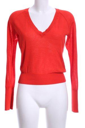 Drykorn V-Ausschnitt-Pullover rot Casual-Look