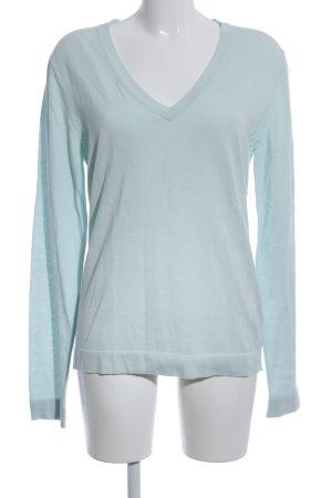 Drykorn V-Ausschnitt-Pullover türkis Casual-Look