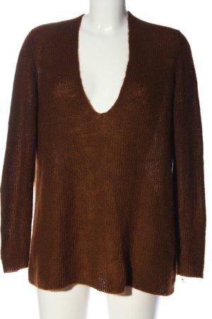 Drykorn V-Ausschnitt-Pullover braun Casual-Look