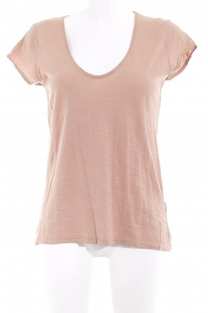Drykorn V-Ausschnitt-Shirt nude meliert Casual-Look