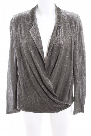 Drykorn Wraparound Blouse silver-colored casual look