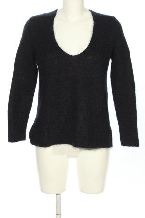 Drykorn Wollen trui zwart casual uitstraling