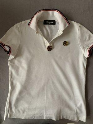 Dsquared2 Camiseta tipo polo blanco