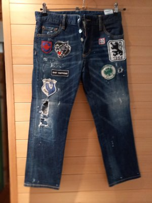 Dsquared2 7/8 Length Jeans blue mixture fibre