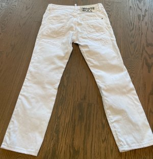 Dsquared2 Jeans 7/8 blanc coton