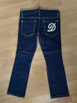 Dsquared2 Jeans a 7/8 blu scuro-bianco