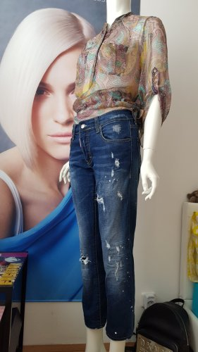 DSQUARED jeans used look luxus Designer jeans seidenbluse small