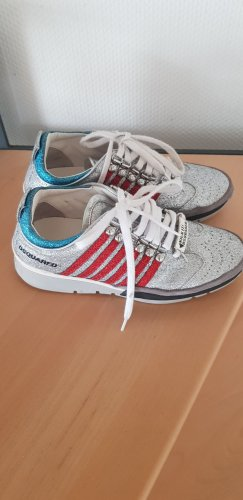 Dsquared2 Sneaker alta argento