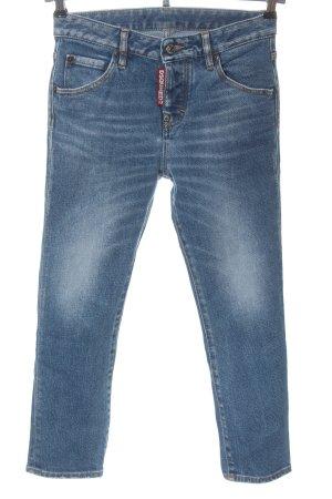 Dsquared2 Jeans 7/8 bleu style décontracté