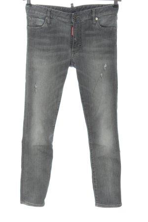 Dsquared2 Jeans 7/8 gris clair style décontracté