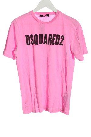 Dsquared2  rosa-nero Stampa a tema stile casual
