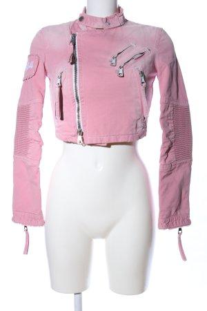 Dsquared2 Veste motard rose style décontracté