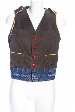 Dsquared2 Biker Vest brown-blue casual look