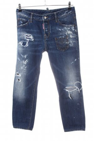 Dsquared2 Boyfriend jeans blauw straat-mode uitstraling