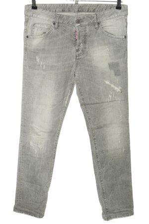 Dsquared2 Slim jeans lichtgrijs gestippeld casual uitstraling