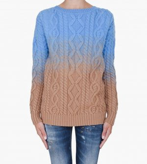 Dsquared2 Dipped Knit SweaterZopfmuster wollpullover gradient