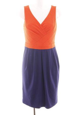 Dsquared2 Vestido corte imperio naranja claro-lila elegante