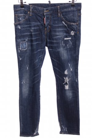 Dsquared2 Spodnie z pięcioma kieszeniami niebieski W stylu casual